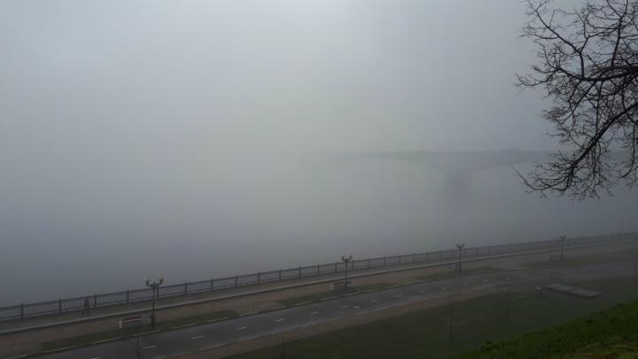 На Ярославль опустился туман: 7 зловещих фото