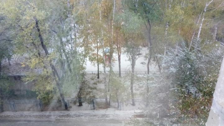 Зима в октябре: в Тюмени выпал снег