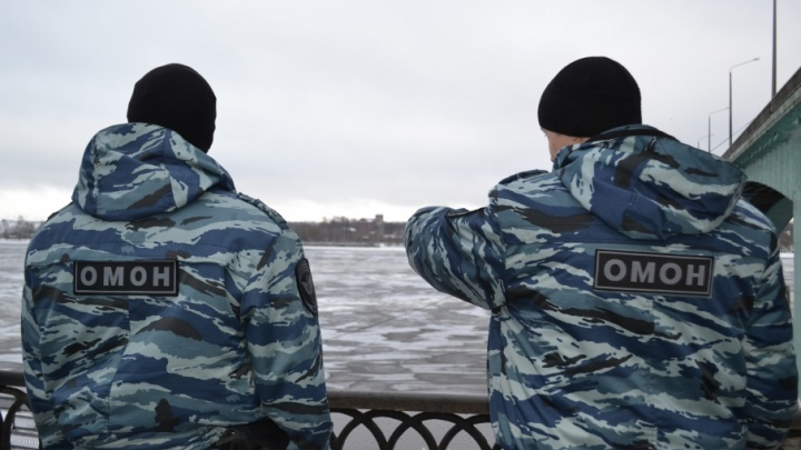 Сотрудники ОМОНа спасли провалившегося под лёд ребенка
