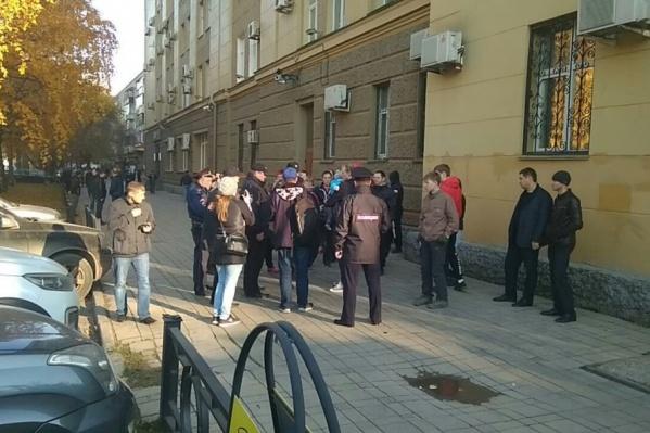 Активистов задержали, когда они собрались в центре города
