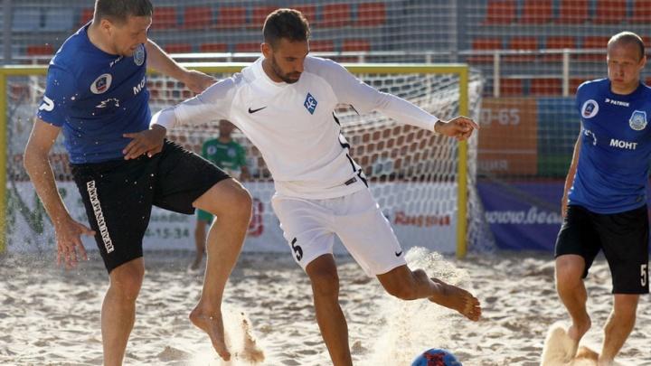 Пляжные «Крылья» одержали первую победу в матче против команды «Элмонт» на чемпионате России