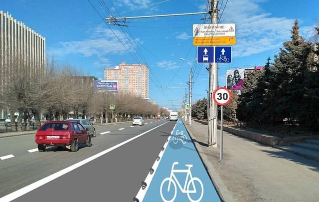 Активисты Волгограда потребовали отделить велодорожки города от пешеходов и столбов