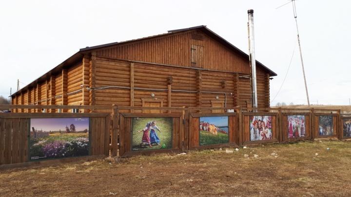 Пожарно-лесную станцию в Кенозерье украсили работами известных фотографов
