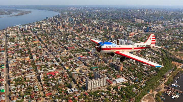 Самара в «петле»: завораживающие снимки города с высоты полета