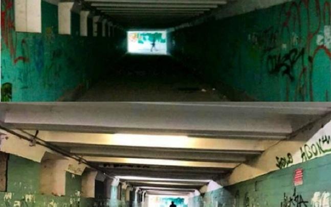 Страшной подземке в Тракторозаводском районе Волгограда подарили новые фонари