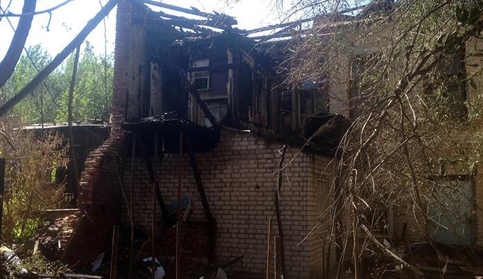 В Волгограде горел дом-памятник