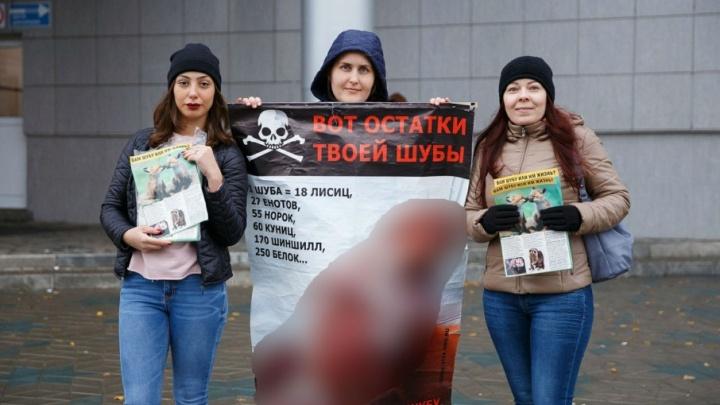 «Вот остатки твоей шубы»: в Тольятти прошла акция против убийства животных ради меха