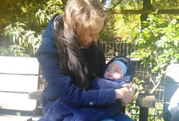Арсений с мамой Ксюшей.