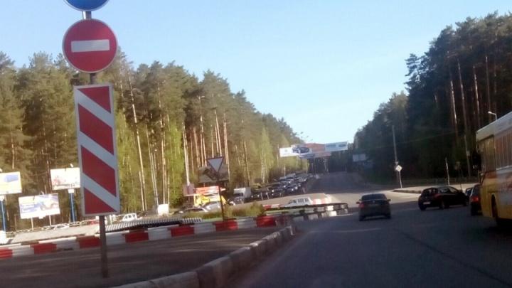 В Перми порыв ветра снес стелу «Ленинский район»