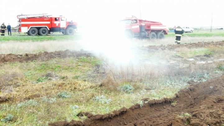 В Ворошиловском районе Волгограда потушен пожар в пойме реки Царицы