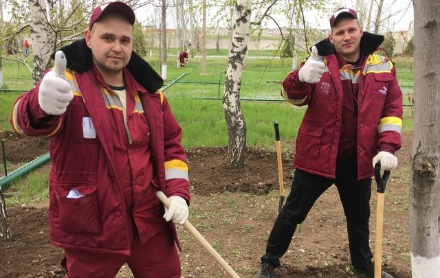 Заводчане города Волжского провели масштабный весенний субботник