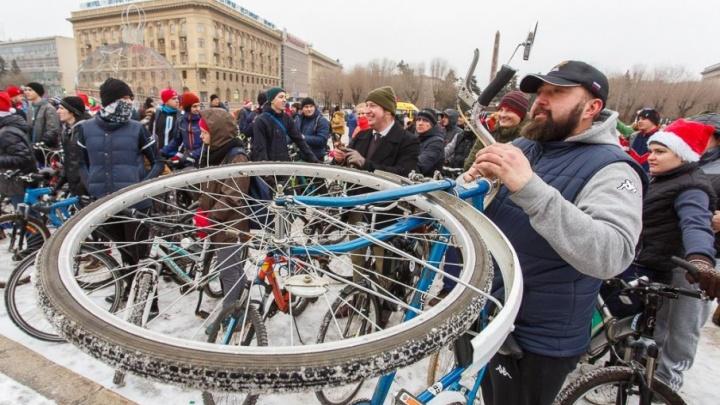 Волгоградцы выбрали маршрут для зимнего велопарада