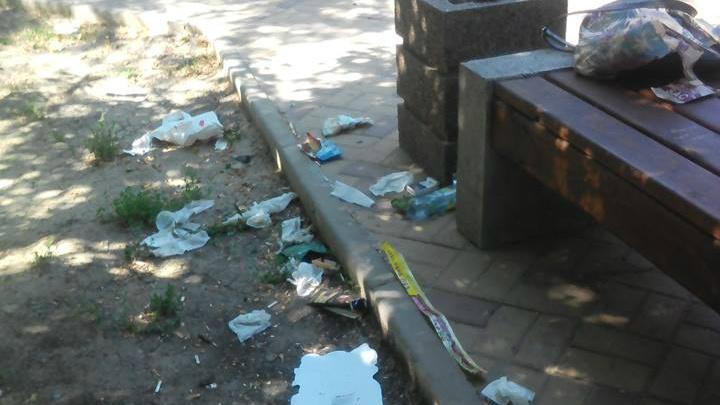 «Помогите, утопаем в мусоре»: сквер Оганова превратился в помойку