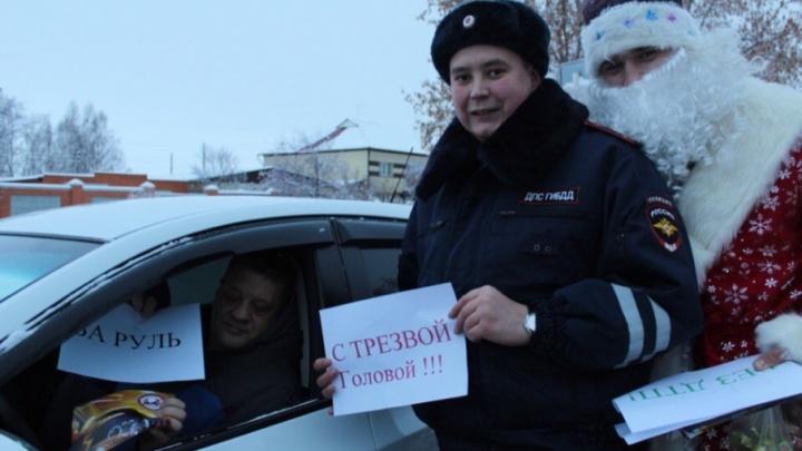 В первые дни нового года на дорогах Тюменской области задержали 72 пьяных водителя