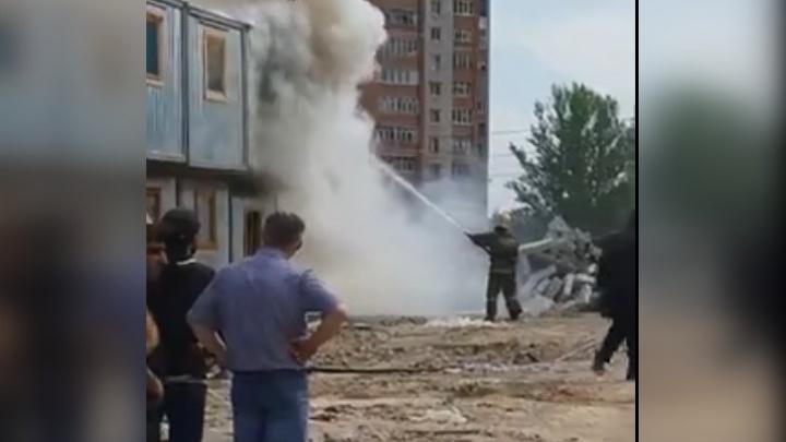 На стройке «Ярославль-Сити» начался пожар