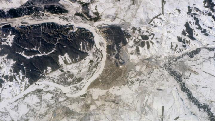 Российский космонавт сделал фото Самары с орбиты