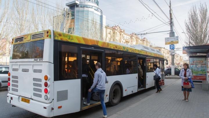 Из-за пробок в центре Волгограда автобусы отстают от графика на 40 минут
