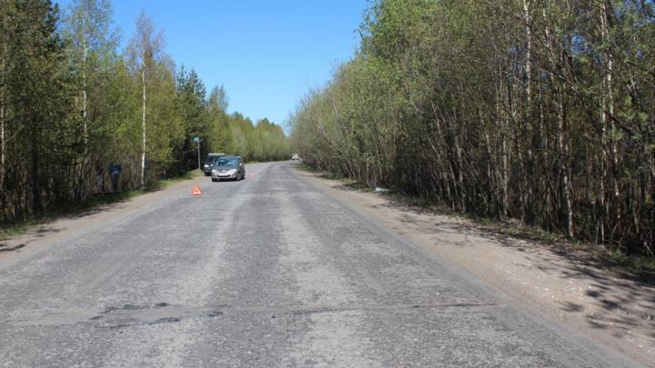 По дороге в Онегу водитель «Лады» сбил пешехода