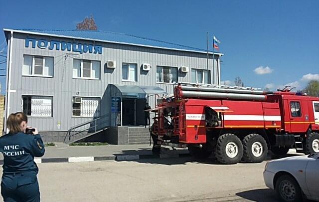В Городище пожарные тушили здание райотдела полиции