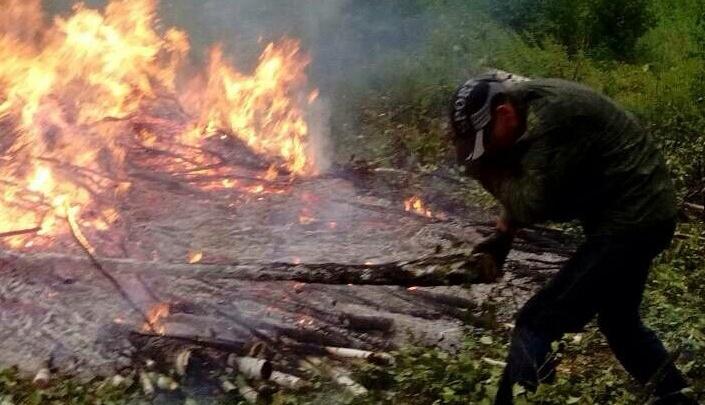 «Террористы поджигают»: жителей посёлка под Челябинском встревожили пятиметровые костры у ЛЭП