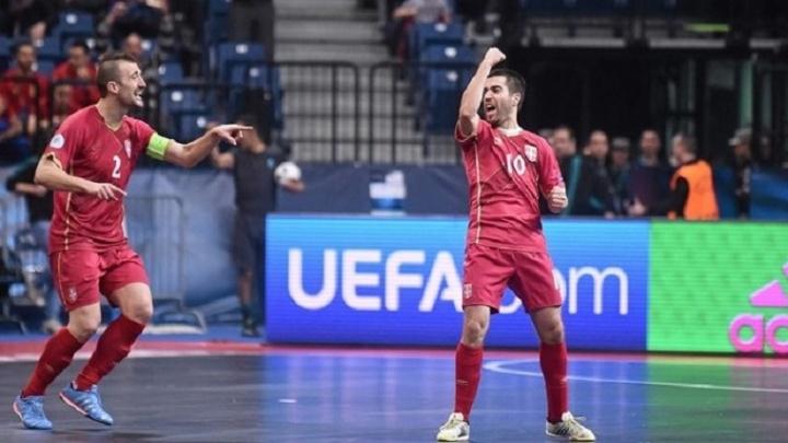 Легионер МФК «Тюмень» Младен Коцич забил гол в ворота сборной Чехии