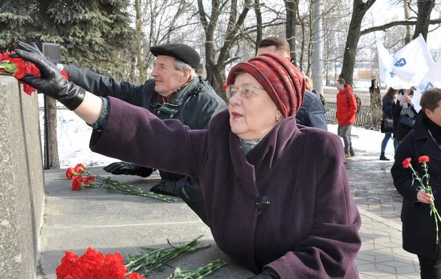 В Архангельске прошел митинг памяти Михаила Ломоносова