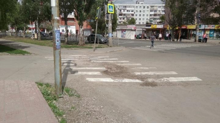 «Зебру нарисовали прямо в яме»: самарцы рассказали о пешеходном переходе на Стара-Загоре