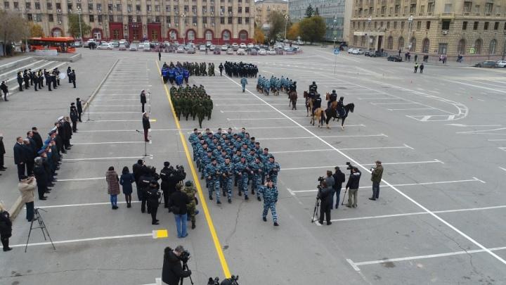 В Волгограде вековой юбилей милиции отметили с лошадьми и собаками