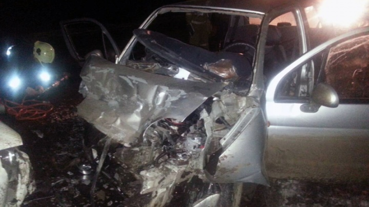 «Автомобилистка погибла на месте»: на трассе под Тольятти «Шевроле-Нива» протаранила «Матиз»