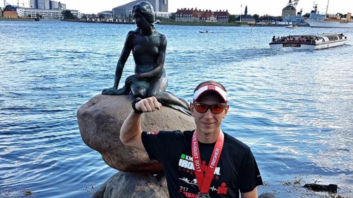 «Железный человек»: триатлонист из Тюмени преодолел 226 километров за 12 часов
