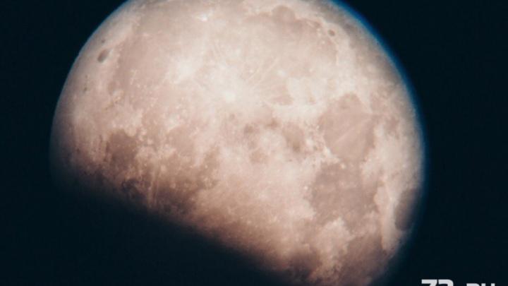 Луна в объективе: тюменцы запечатлели частичное затмение спутника Земли