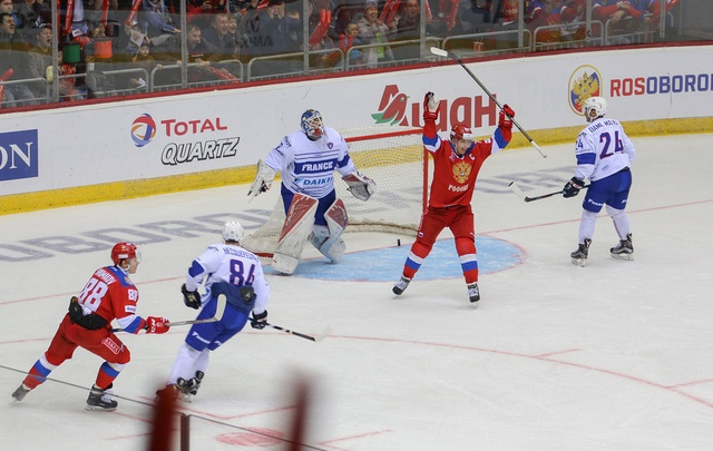 «Красная машина» разгромила французов в матче Еврочелленджа в Челябинске