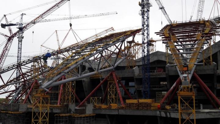 Готовность купола стадиона «Самара Арена» составляет 88%