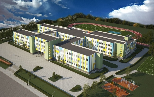 Губернатор Андрей Бочаров посетил строящуюся школу в микрорайоне «Долина»