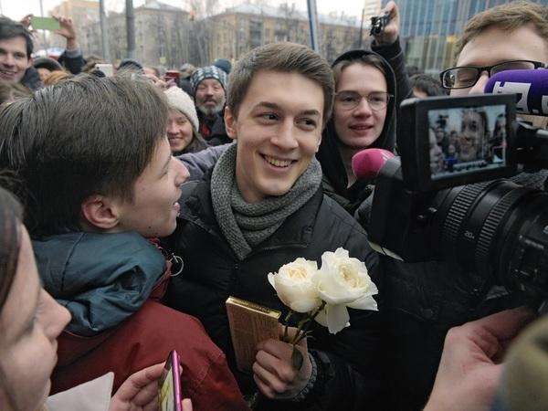 Егор Жуков после оглашения приговора//Глеб Щелкунов/Коммерсантъ