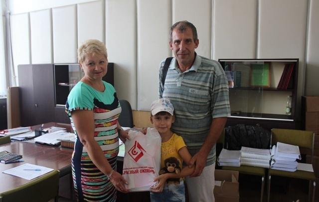 На «Красном Октябре» поздравили первоклассников с 1 сентября
