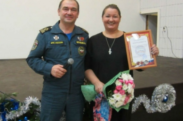 Анну наградили в торжественной обстановке
