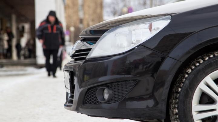 В Архангельске водитель иномарки пропустил пешехода и попал в ДТП