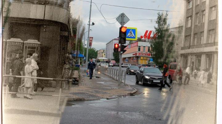 Трамваи и театральный Ленин: как выглядел центр Архангельска в прошлом веке