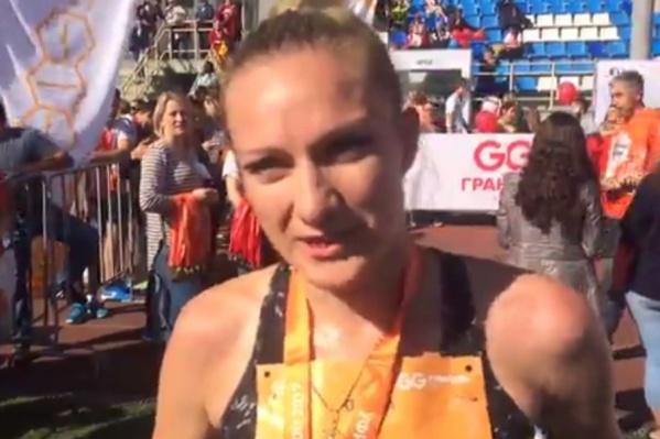 Ольга поставила рекорд трассы уфимского марафона