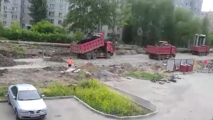 К новостройкам в Ленинском районе начали строить дорогу
