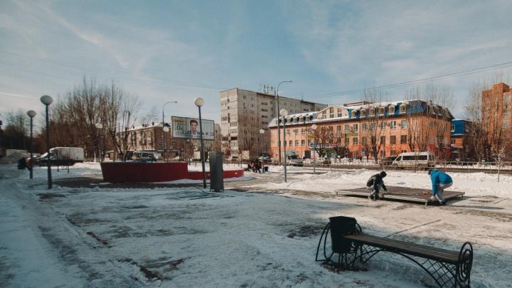 У библиотеки на Червишевском тракте реконструируют старый фонтан