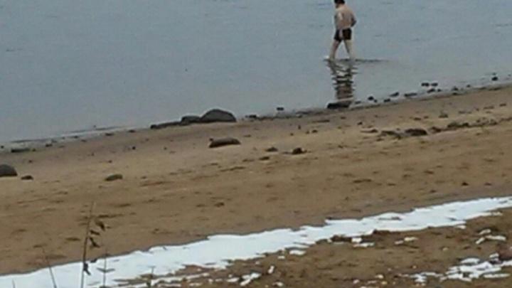 Купальный сезон еще открыт: в Рыбинске мужчина устроил ноябрьский заплыв