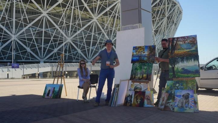 Волгоградские художники перед матчем «Ротора» напишут онлайн-картину
