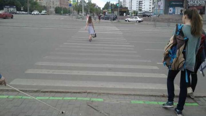 Челябинцы потеряли инновационный светофор
