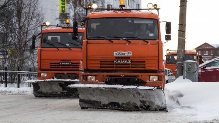 К концу ноября в Архангельск прибудет 12 новых единиц спецтехники для уборки дорог