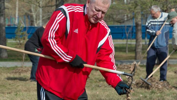Навел чистоту и посадил дерево: Евгений Тефтелев вышел на субботник в Челябинске