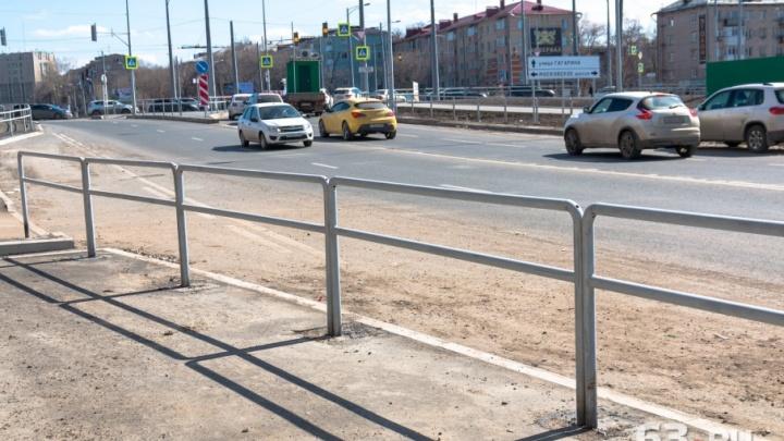 Дорожные ограждения в Самаре выкрасят в единый цвет