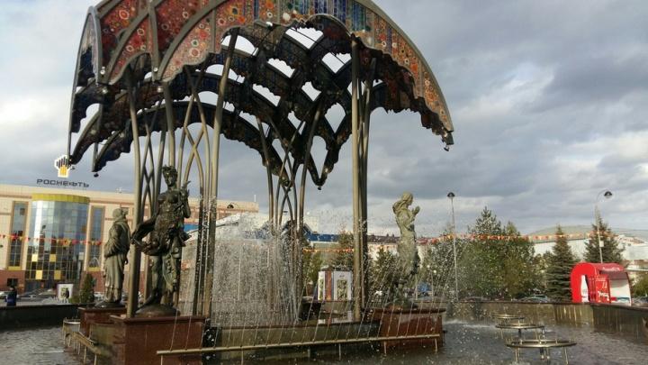 В Тюмени вновь заработал фонтан «Времена года», установленный на Цветном бульваре