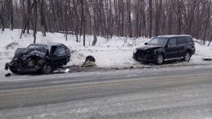 Смертельное ДТП: на Красноглинском шоссе столкнулись Pajero и ВАЗ-2114